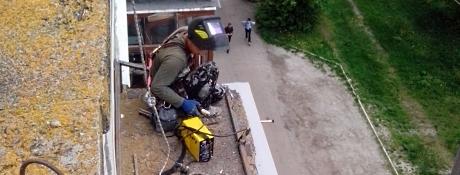 Ремонт балконних козирків в Тернополі